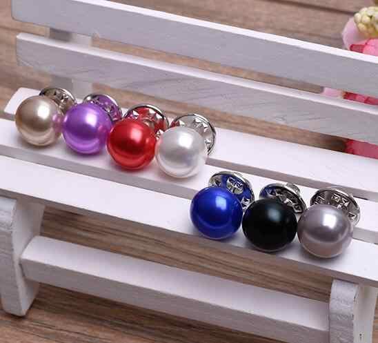 Hot Sale Elegan Klasik Wanita Perhiasan Korea Mutiara Imitasi Kerah Cardigan Selendang Gesper DIY Syal Pin Bros 1 Pcs