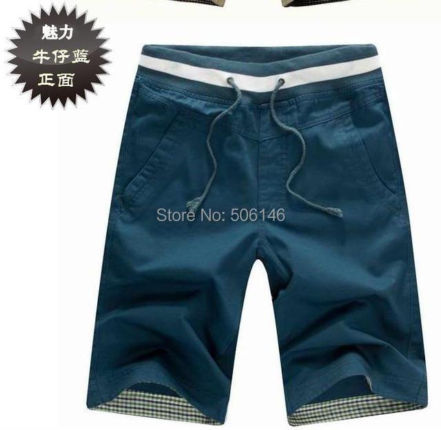 2016 New top quality drawstring men shorts loose leisure man Fashion cotton shorts beach shorts size M-XXL free ship