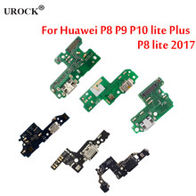 For Huawei P8 P9 P10 lite Plus P8 lite 2017 Charger Charging port Dock USB Connector Data Flex Cable Headphone Jack Flex Ribbon(China)