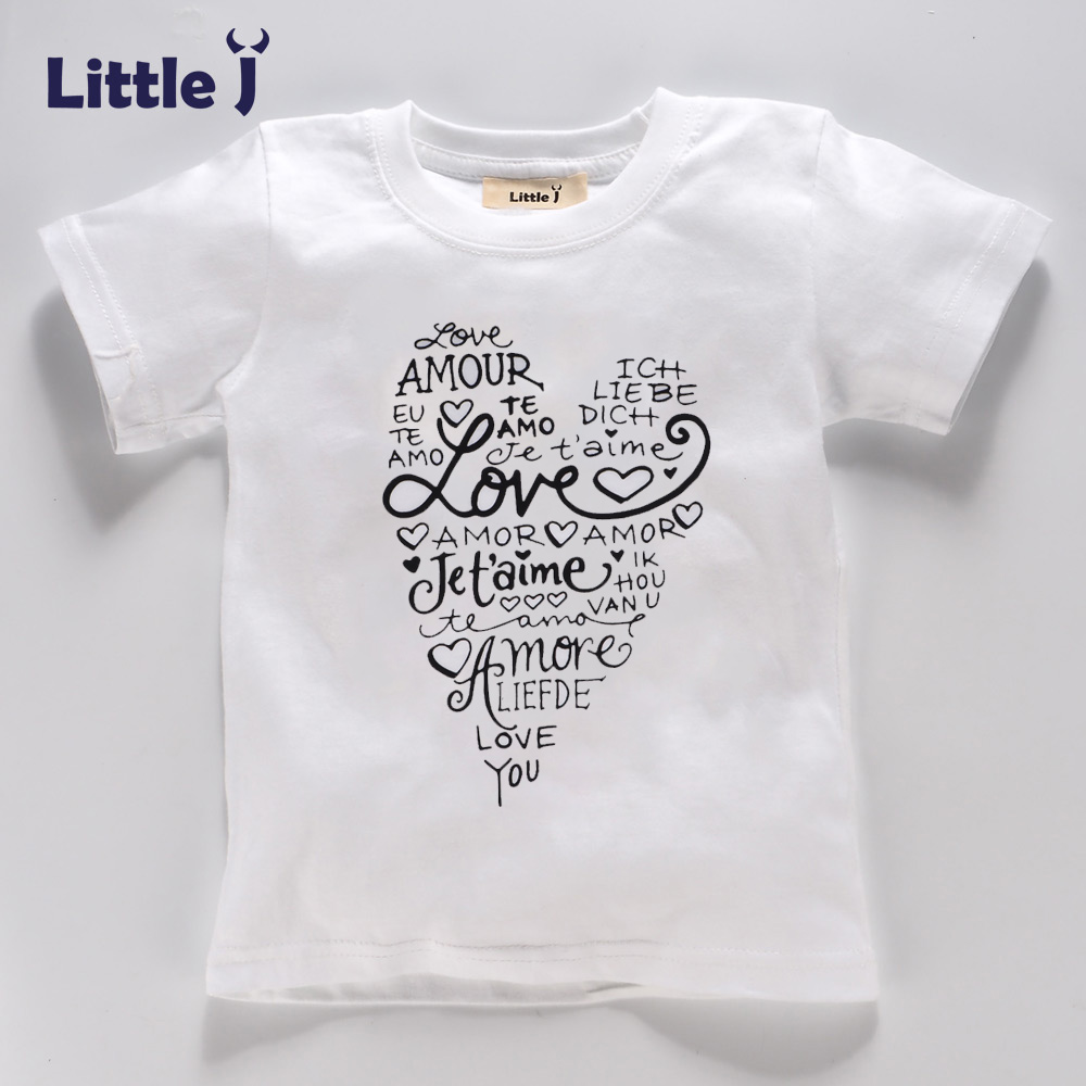 Clearance-Summer-Love-Letter-Girls-T-Shirt-Short-Sleeve-Childrens-T-shirt-Cotton-Tee-Top-Cartoon-Boys-Clothes-White-Kid-T-Shirt-1