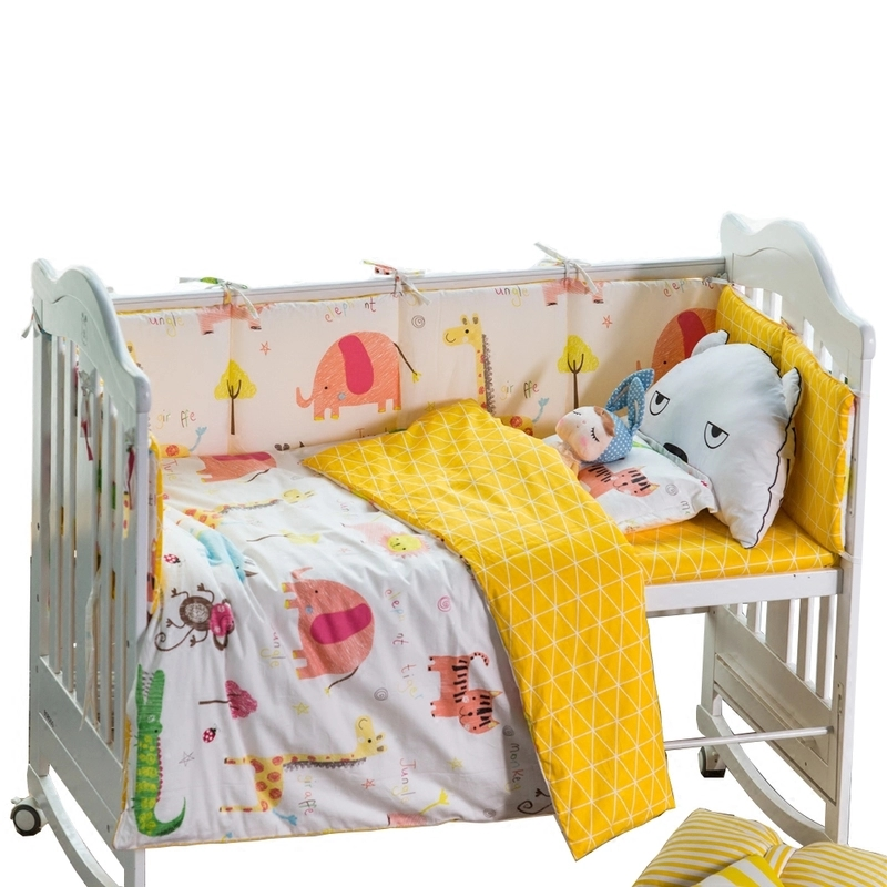 Baby Bedding Set 3 Pieces Cotton Nursery Crib Bedding Set Infant Cot Bedding Set 120*60 Cartoon Pillowcase Sheet Quilt Cover nursery bedding baby boy cartoon quilt cover for bed crib sheet pillowcase 100% cotton bedding set