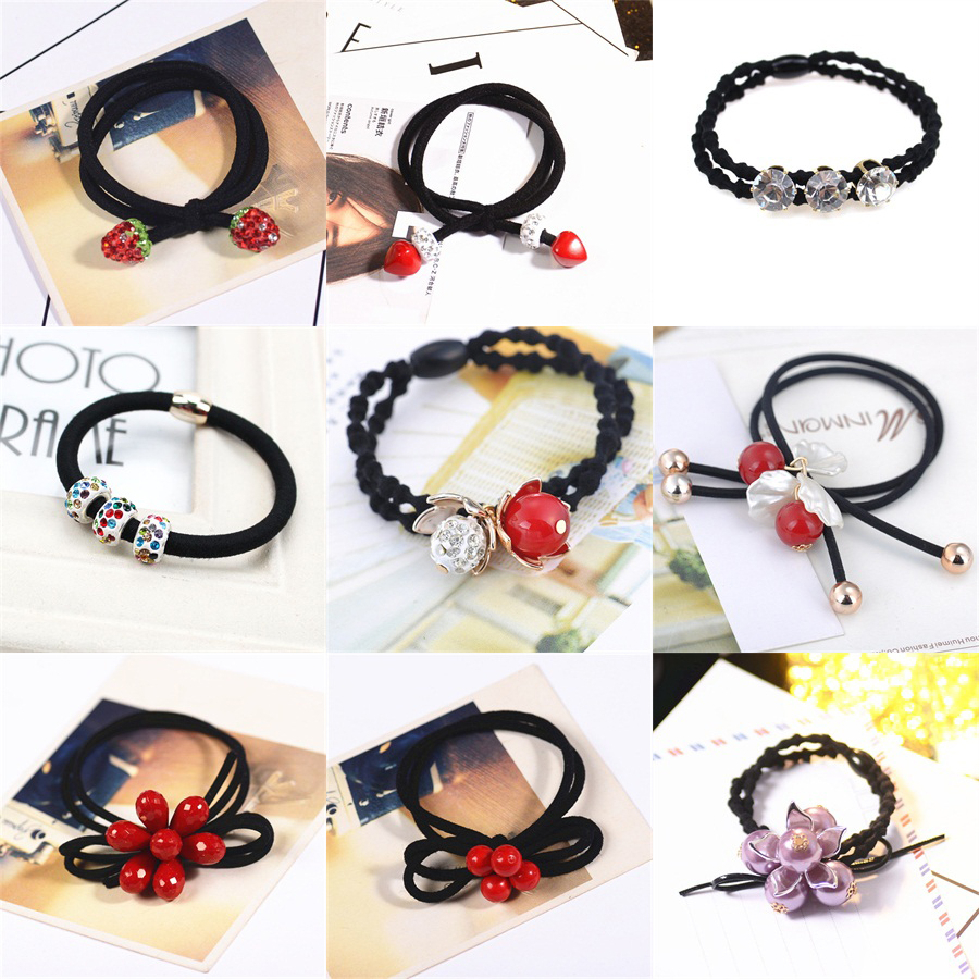 1PCS Shamballa ball Hair Accessories For Women Headband,Elastic Bands For Hair For Girls,Hair Band Hair Ornaments For Kids metting joura vintage bohemian ethnic tribal flower print stone handmade elastic headband hair band design hair accessories