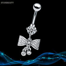 Starbeauty Boutique Bowknot Navel Piercing Ombligo Sexy Belly Button Piercing Nombril AAA Zircon Belly Button Rings Body Pircing