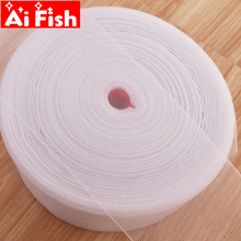 Belt Curtain-Tape Padded-Hook Rings Eyelets White for Polyester CP101 -4 Transparent