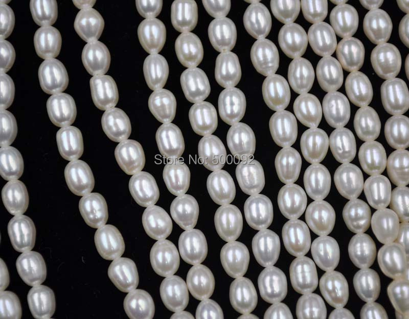 2019 verkauf Zeitlich begrenzte Charme Natürliche Perlen Perlen Großhandel 10 Stränge 4,5 5mm Reis Süßwasser Perle Lose-in Perlen aus Schmuck und Accessoires bei  Gruppe 3