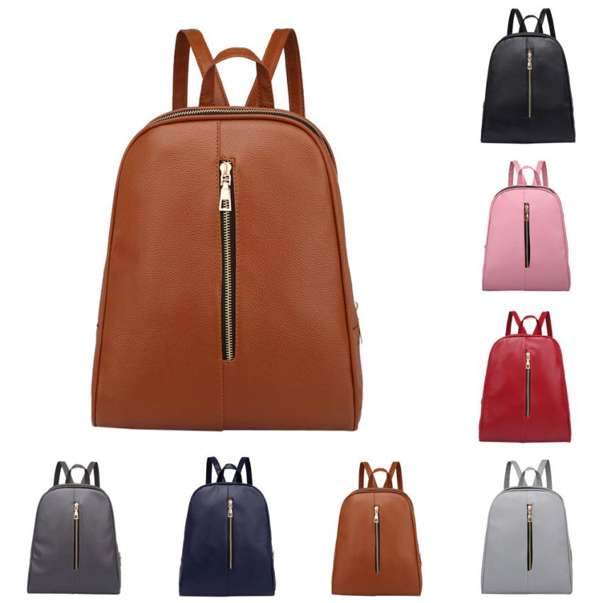 xiniu High Quality Woman Fashion Leather Backpack Female Preppy Style Zipper Mochila Sch ...