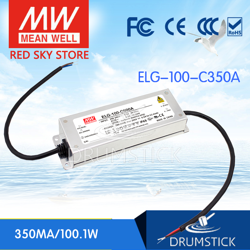 Hot sale MEAN WELL original ELG-100-C350A 297V 350mA meanwell ELG-100 100.1W Single Output LED Driver Power Supply A type royal london royal london 90008 01 pocket