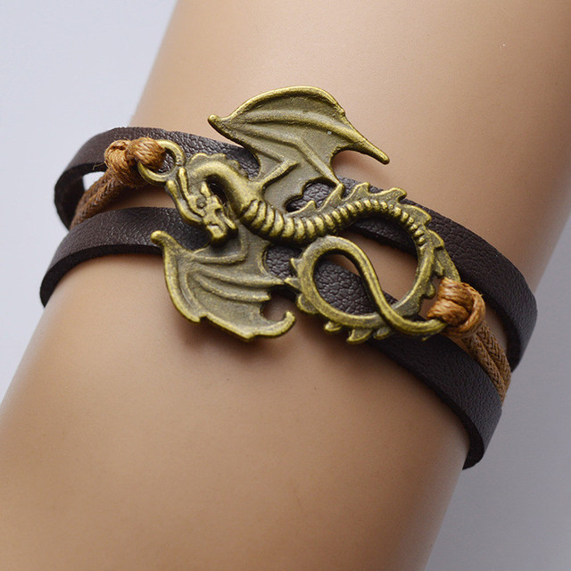 """""""Song Of Ice And Fire"""" Leather Dragon Bracelets"""