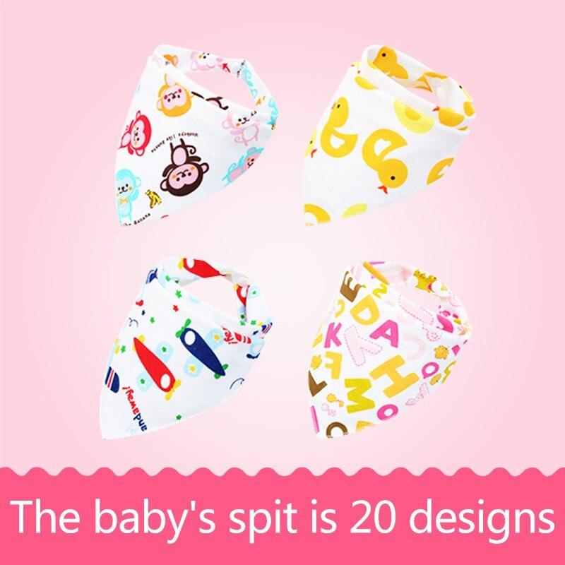 3pcs/5 pcs cotton baby saliva towel multi-color bosom color random delivery cartoon cloths triangle cotton bandana accessories