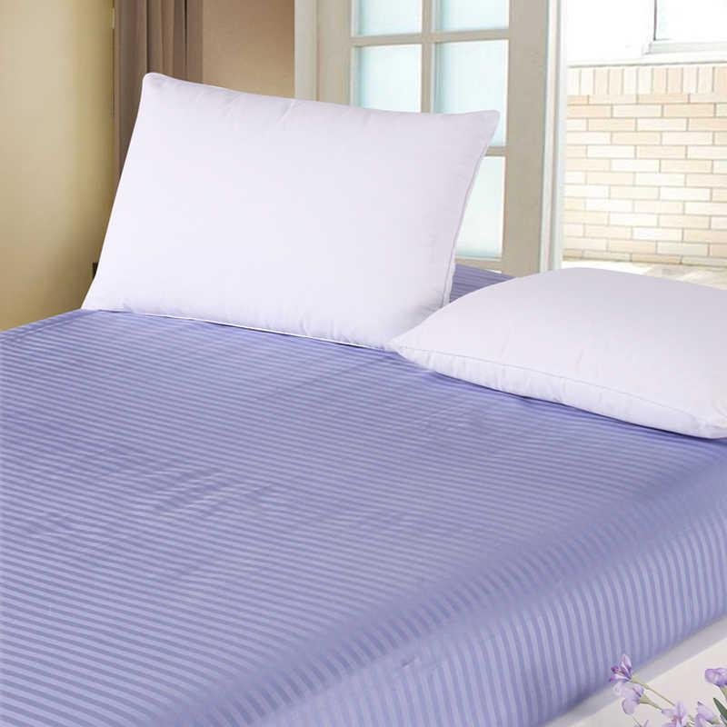 100% Cotton Trang Bị Tờ Đơn Đôi Full Nữ Hoàng Vương Kích Thước Bedsheets Thun Bọc Đệm Bảo Vệ