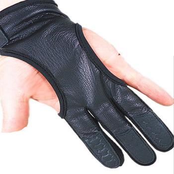 Mounchain one piece profesjonalne strzelanie z łuku skórzane rękawice z 3 palcami ochronna osłona dłoni do polowania tanie i dobre opinie Leather Pasuje prawda na wymiar weź swój normalny rozmiar POU_021W 3-fingered Shooting hunting gloves M L XL 3-Fingered Gloves Protective