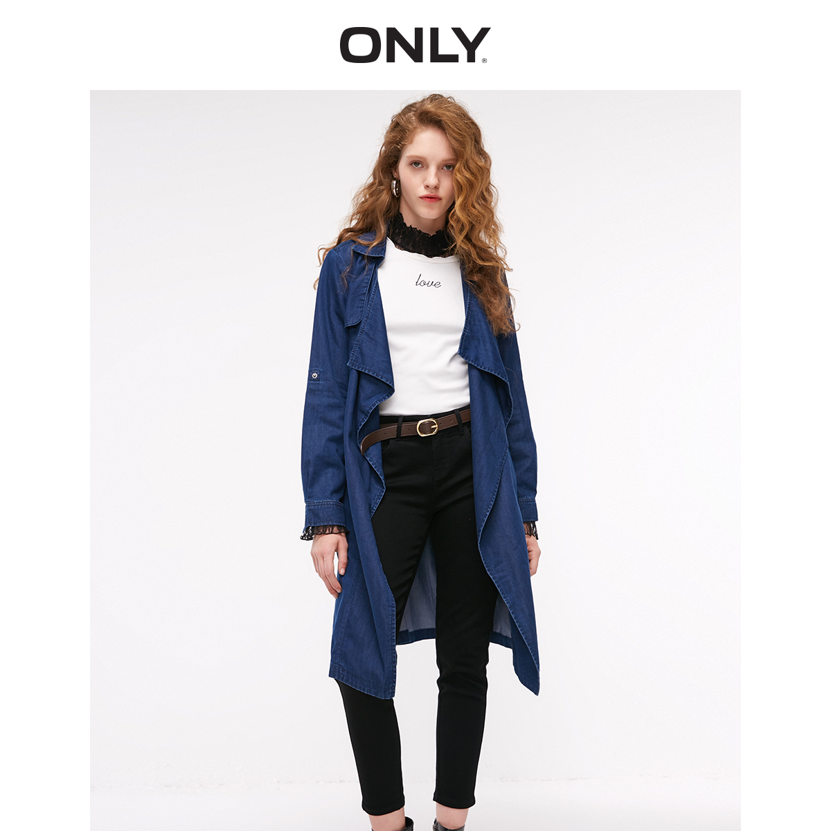 ONLY Women's Loose Fit Medium Length Denim Jacket  | 118354521