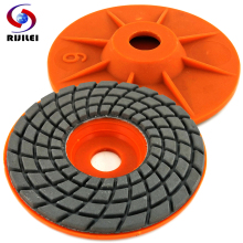 RIJILEI 7PCS/Set 100mm Diamond polishing pad 4inch Wet Flexible granite pads Concrete Floor Marble Grinding Discs ZJ06