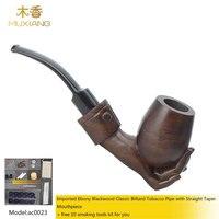 Ebony курительная трубка с акриловые наклонился седло мундштук Для мужчин изогнуты Ebony курительная трубка Бесплатная доставка ac0023
