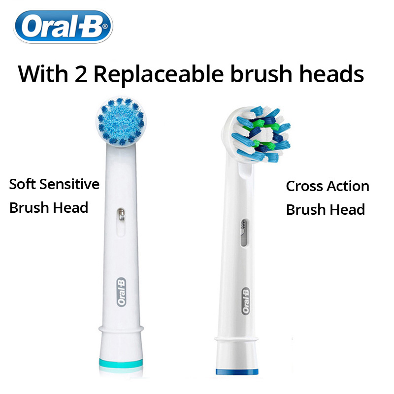 Oral B Electric Toothbrush Pro600 Pressure Sensor Deep Clean 3D Clean  Tecnology Inductive Charge Toothbrush Brush heads-in Electric Toothbrushes  from Home ... f78aef84c4df