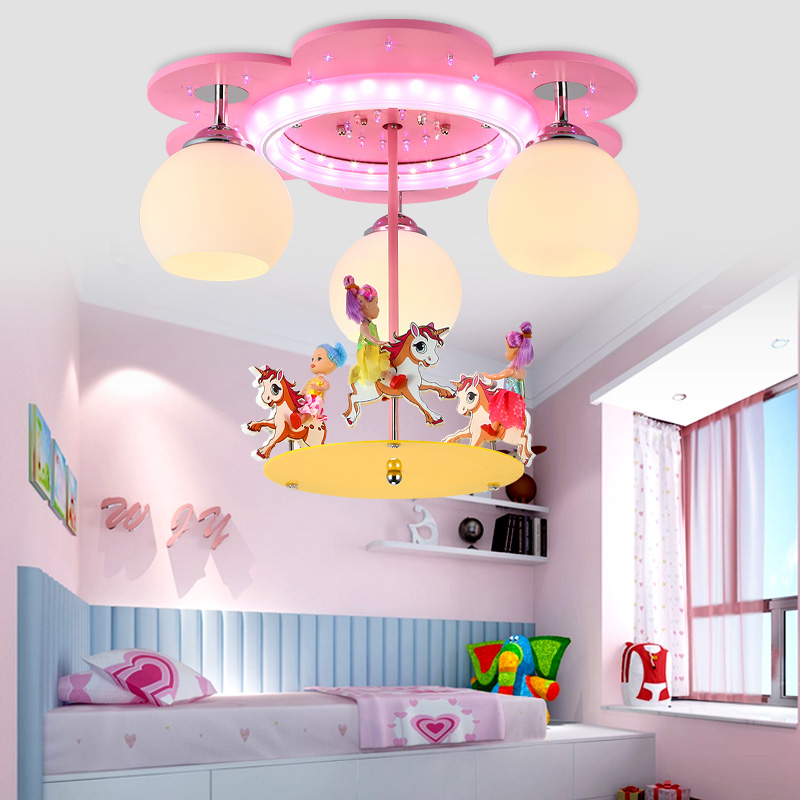 Ceiling Lights & Fans Led Childrens Room Ceiling Lamp Eye Care Master Bedroom Light Boy Girl Star Sun Cartoon Lamp Lighting Postage Free Lights & Lighting