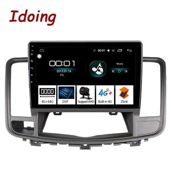 """Idoing 10,2 """"2.5D IPS coche Android 8,1 Radio de audio reproductor Multimedia para Nissan Teana Nissan J32 2008-2013 4G + 64G 8 Core GPS de navegación"""