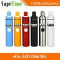Original joyetech ego d22 aio kit cigarro eletrônico 1500 mah bateria de capacidade de 2 ml e líquido-líquido bf ss316 0.6ohm mtl cabeça atomizador
