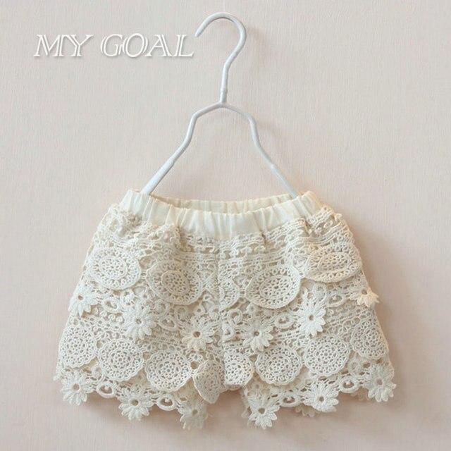 2016 New girl summer Shorts Baby girl Kids Shorts Crochet de flores ...