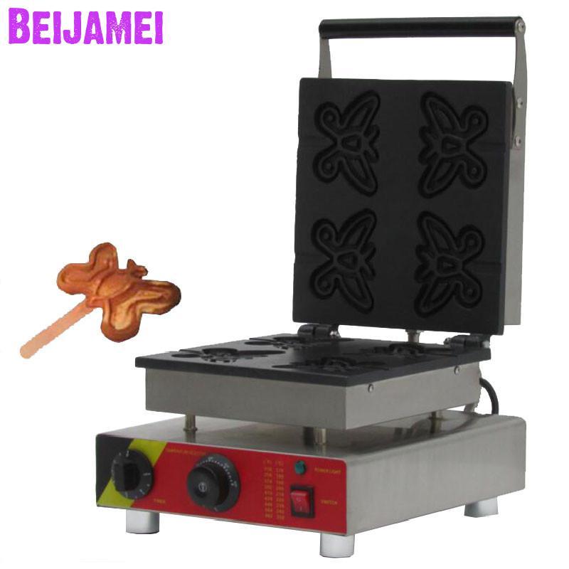 BEIJAMEI Commercial butterfly waffle maker electric butterfly-type waffle machine waffle cake oven food machineBEIJAMEI Commercial butterfly waffle maker electric butterfly-type waffle machine waffle cake oven food machine