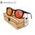 13 Cores de Lentes de Prescrição Óculos De Armação Redonda De Madeira Marrom Jaqueta Du Brown Medusa Madeira Madeira Óculos de Prescrição