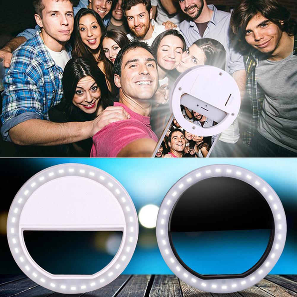 2017 новая мода портативный Selfie LED Кольцевая вспышка заполнить свет клип камеры для iPhone Samsung Xiaomi HTC Android-смартфон