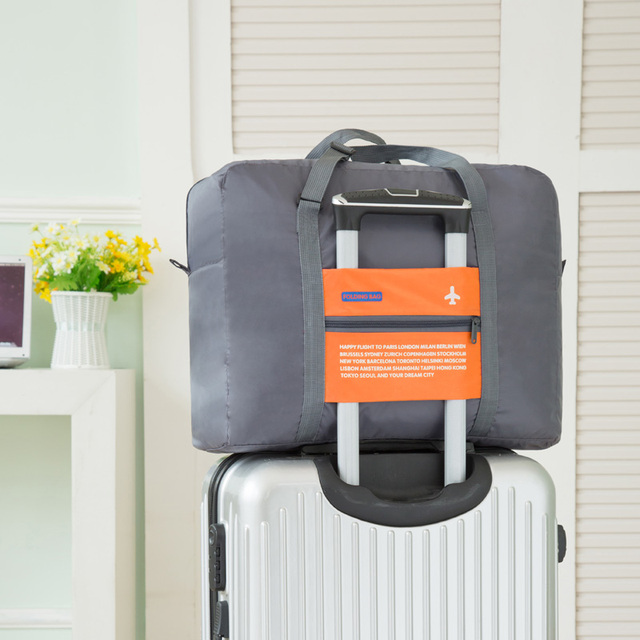 fb672fe5c IUX Fashion Folding Bag Unisex Luggage Travel Handbags WaterProof Travel  Bag Large Capacity Bag Women Nylon