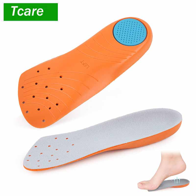 1Pair Men/Women 3/4 Length Flat Feet Orthotic Orthopedic Insoles With Great Arch Support And Poron Heel Cushioning Pain Relief