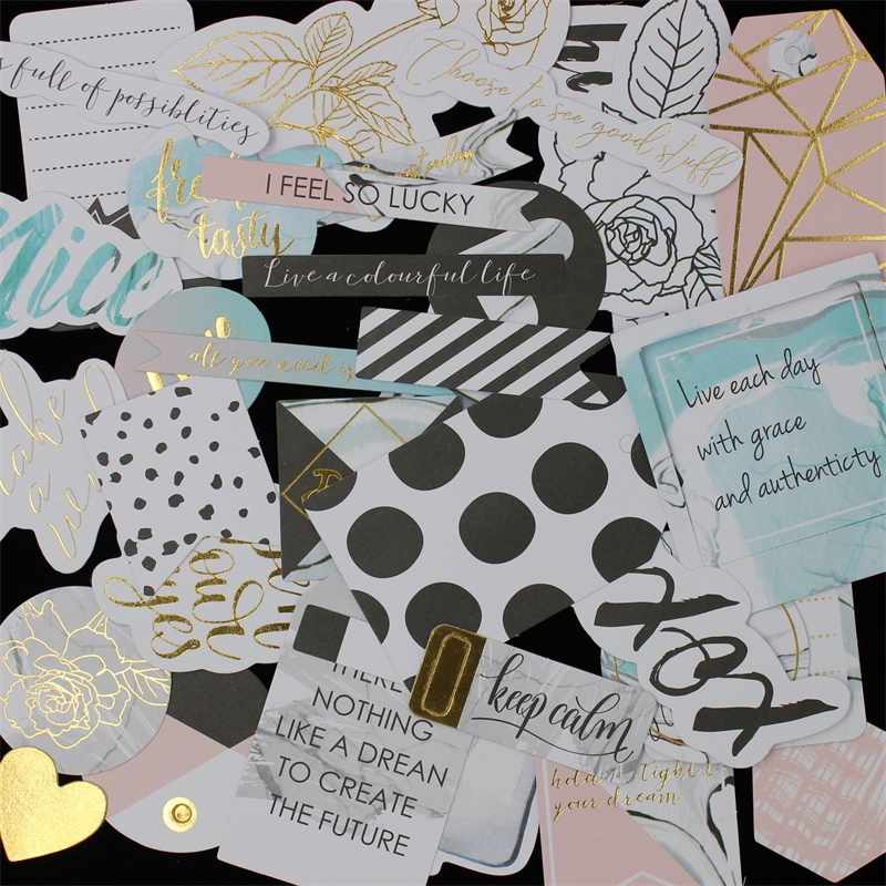 ZFPARTY 40pcs Love Cardstock Die Cuts For Scrapbooking Happy Planner/Card Making/Journaling Project