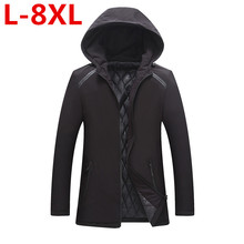 new PLUS SIZE 7XL 6XL 5XL 4XL 2017 Cotton New Style High Quality Jacket Men Winter Fashion Warm Regular Parkas And Coats Hooded