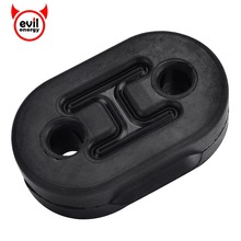 evil energy Universal 2 Holes 10mm Car Exhaust Tail Pipe Mount Brackets Hanger Insulator Automobiles Accessories
