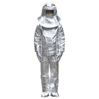 Aluminum foil clothing Fire Fighting suit fireman outside suit high tempreture protective clothes Radiation proof clothes