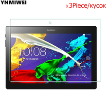 3Piece Tempered Glass Protector For Lenovo Tab 2 A10-30 X30F Glass Film For Lenovo TAB2 A10-70F A10-70L Tab3 10 Plus x70F pu leather stand cover case for lenovo tab 2 a10 30 a10 30 x30f tab2 x30f 10 1 tablet protective cover case tab3 10 plus