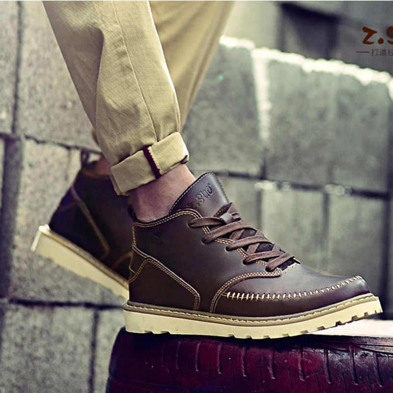 84f5dcac2 ... ZSUO/брендовые весенние мужские ботинки 2018, новые модные ботильоны  ручной работы из натуральной кожи ...