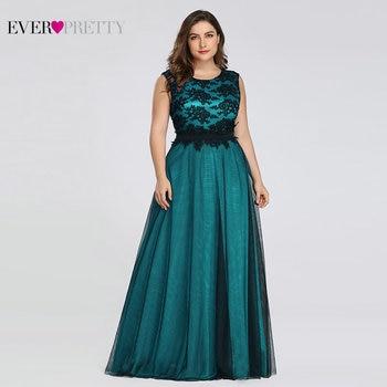 Plus Size Elegant Evening Dresses Ever Pretty Burgundy A-Line Lace Sleeveless Sexy Dress for Party EZ07545 Robe De Soiree 2020 1