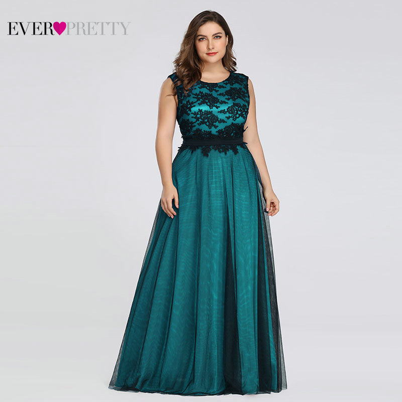 Plus Size Elegant   Evening     Dresses   Ever Pretty Burgundy A-Line Lace Sleeveless Sexy   Dress   for Party EZ07545 Robe De Soiree 2019