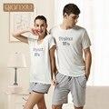Qianxiu Marca Pijamas Desgaste Del Salón de Verano de Algodón Pantalones Hombres Modal Pijamas set 1 UNIDS Envío gratis