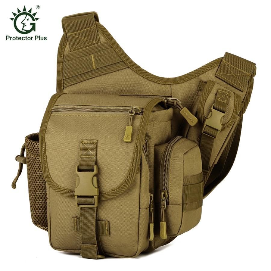 Militär Mens Messenger Bag Tactical Ryggsäck MOLLE Crossbody Axelväskor Multifunktionell Professionell Utomhus Durable Väska