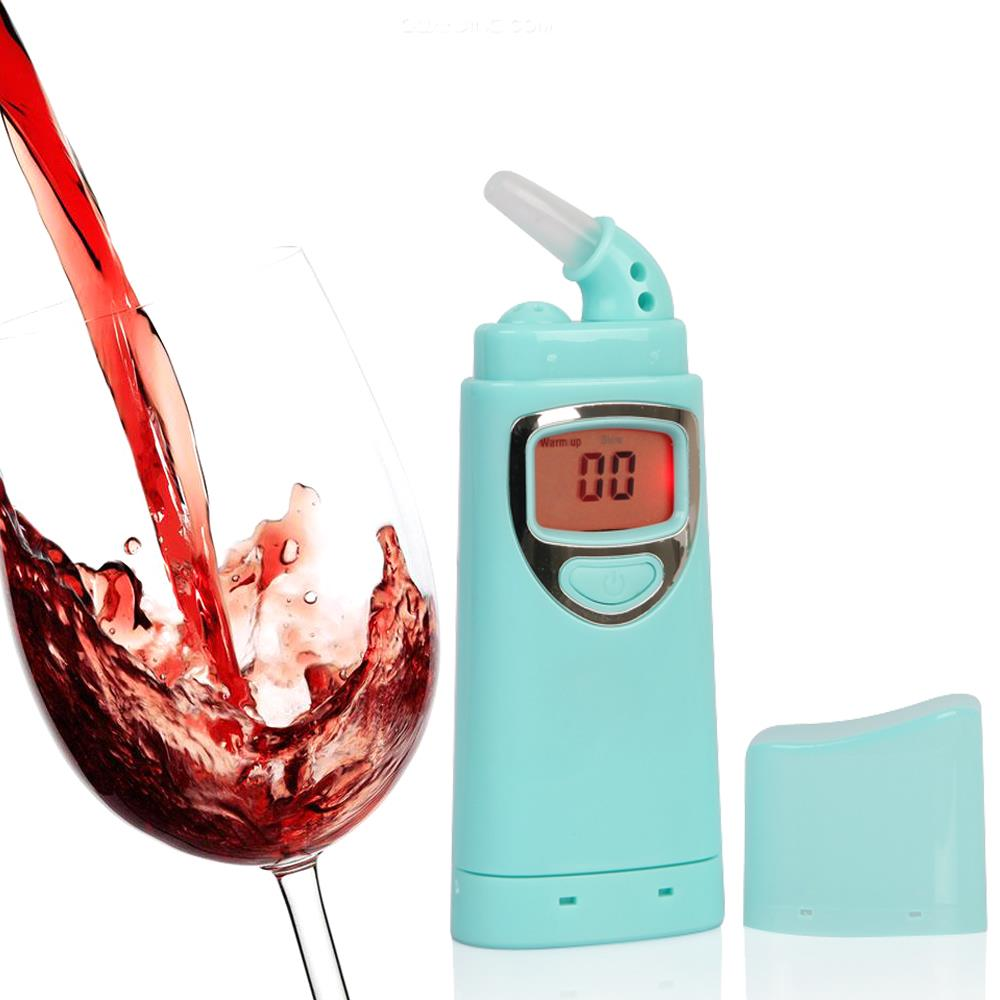 Vendita Calda prezzo di fabbrica Digitale alcol tester con retroilluminazione Etilometro alcohol breath alcohol tester Rivelatore Auto Gadget
