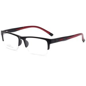 Image 4 - 男性女性眼鏡フレーム処方眼鏡TR90眼鏡フレームシリコーン光学ブランドメガネフレームハーフリムレスメガネ