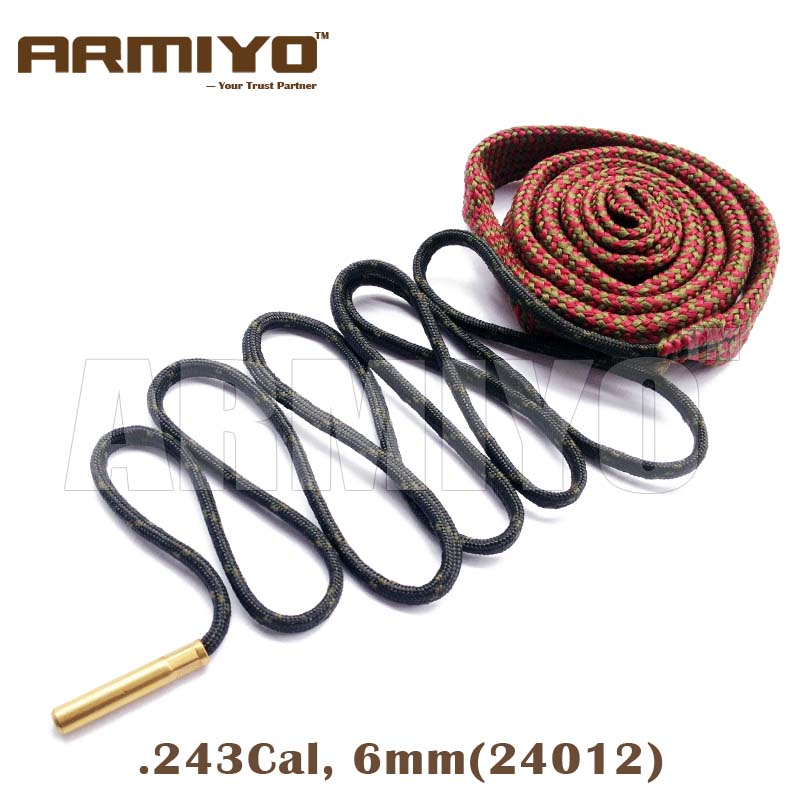 Armiyo Bore Snake Gun Bore Cleaner 6mm .243 Cal 24012 Hunting Barrel Cleaning Tools Shooting Clean Accessories