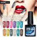 Modelones Diamond Glitter UV Nail Gel Polish Soak Off Led UV Gel Nail Polish Use With Base Top Gel Polish Need UV Lamp Gel Nail
