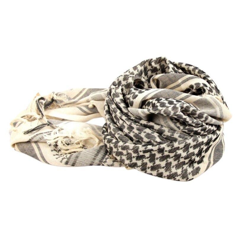 Kaffiyeh Headscarf Women Men Thick Cotton Blend Outdoor Arab Sunshade Warm Shawl Cap Climbing Outdoor Sportswear Accessories