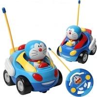 Baby boys girl Doraemon Remote Control Electric toys car kids RC Car High speed Cute cat Cartoon musical light child Car toy