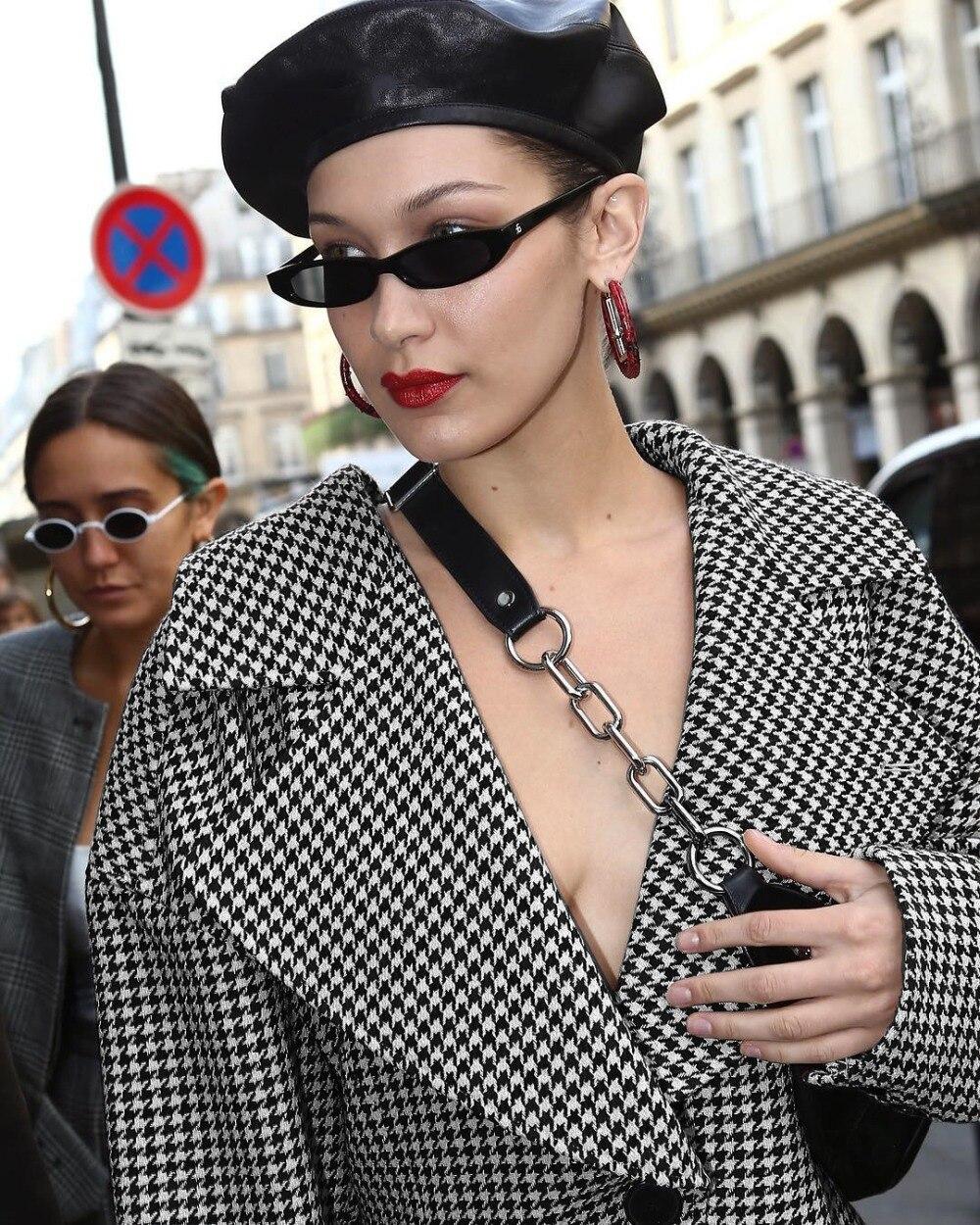 Sur Noir Manteau Plaid Cou Lsysag Élégance Picture Hiver V Mode Color Jacke Pied De Profonde Blanc Poule Vêtements Femmes Damier 2018 qqYgaU