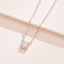 2019 Womens Necklace Simple Trendy Square Crystal Stones Chocker Statement Luxury Wedding Bridal Boho Jewelry PL670