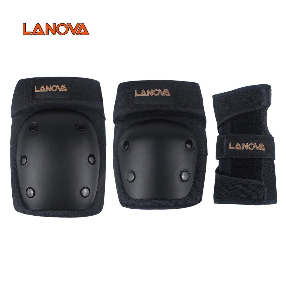 LANOVA 6 unids/set protección patins Set rodilleras coderas Protector de muñeca protección para Scooter de Ciclismo de patinaje de tamaño a 4