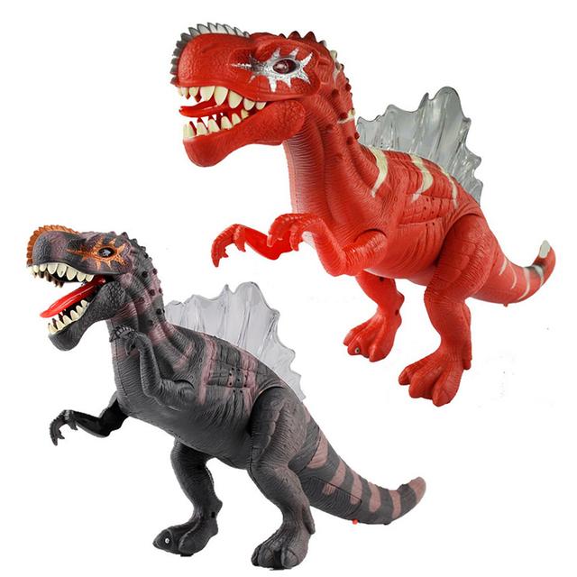 Enfriar 17 ''Niños Dinosaurio Favorito Regalo de Cumpleaños Modelo de Resonancia Electrónica En Movimiento Intermitente Juguetes de Dinosaurios para Chilren