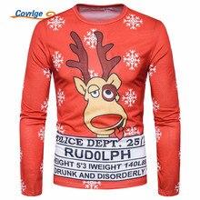 Covrlge 3D Christmas Print Men T Shirt Santa Casual Tee Shirt Homme Harajuku Hip Hop Funny