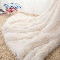 Super Soft Long Shaggy Bedspread Fuzzy Fur Faux Elegant Cozy With Fluffy Sherpa Throw Sofa Blanket